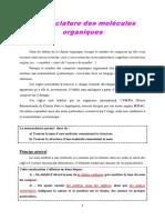 Nomenclature des molécules organiques (2)