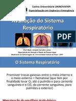 Avaliação do Sistema Respiratório