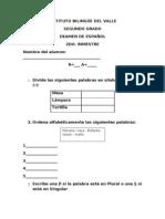 2DO GRADO EXAMEN ESPAÑOL CON A.C. II BIM