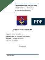 ACCESORIOS LABORATORIO HIDRAULICA BENI YOBANA TAMBO CABRERA