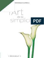 L Art de La Simplicite Dominique Loreau