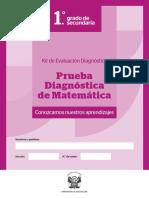 1-SEC PRUEBA DE DIAGNOSTICO DE MATEMATICA