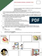 PRUEBA DE UBICACIÓN DE DPCC - 4º DE SECUNDARIA