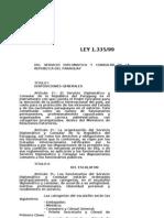 LEY 1335 DEL 99 SERVICIO DIPLOMATICO Y CONSULAR DEL PARAGUAY