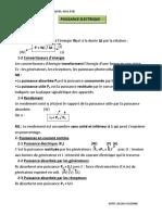3A BT Bâtiment- INSTALLATION SANITAIRE-IS; GO; PBS; RSM; BTB -PUISSANCE ELECTRIQUE