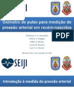 Oxímetro de Pulso Para Medição de Pressão Arterial Em Recém Nascidos