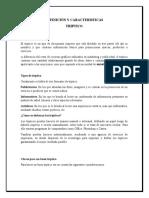 DEFINICIÓN Y CARACTERISTICAS triptico