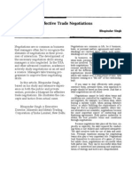 blueprint for effective trade negotiations