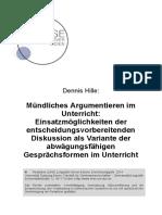 Hille_Mündliches_Argumentieren