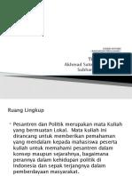 Outline Course Pesantren dan Politik