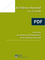Ley de Defensa Nacional.Ministerio de Defensa Nacional. Presidencia de la Nación. Julio de 2010. Documento de distribución gratuita y oficial.