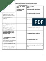 Checklist for Writing Narrative
