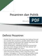 Pesantren Dan Politik (I)