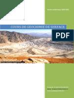 COURS DE GEOCHIMIE DE SURFACE
