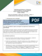 Guia de Actividades y Rúbrica de Evaluación Etapa 3 - Establecimiento de La Psicología Como Ciencia