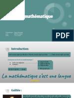 La langue mathématiques