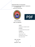 PLAN TUTORIAL - NIVEL SECUNDARIO
