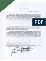 Declaración del fiscal Emiliano Arias