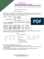 Exercícios- Termoquímica lei de hess