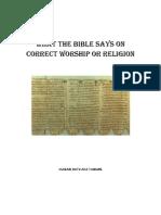 Bible Correct Worship