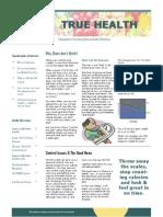 Optimal Health Newsletter 001