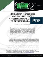 LITERATURA E SAGRADO artigo