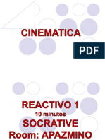 Cinematica Sesion 1-2