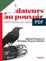 Les Predateurs Au Pouvoir_ Main - Monique Pincon-Charlot