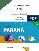 EnsFundII Língua Portuguesa 6ºano Slides Aula12