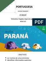 Língua _ Portuguesa_6 Ano_ Slide_ Aula111