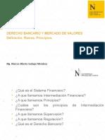 Intermediación Financiera, Principios.