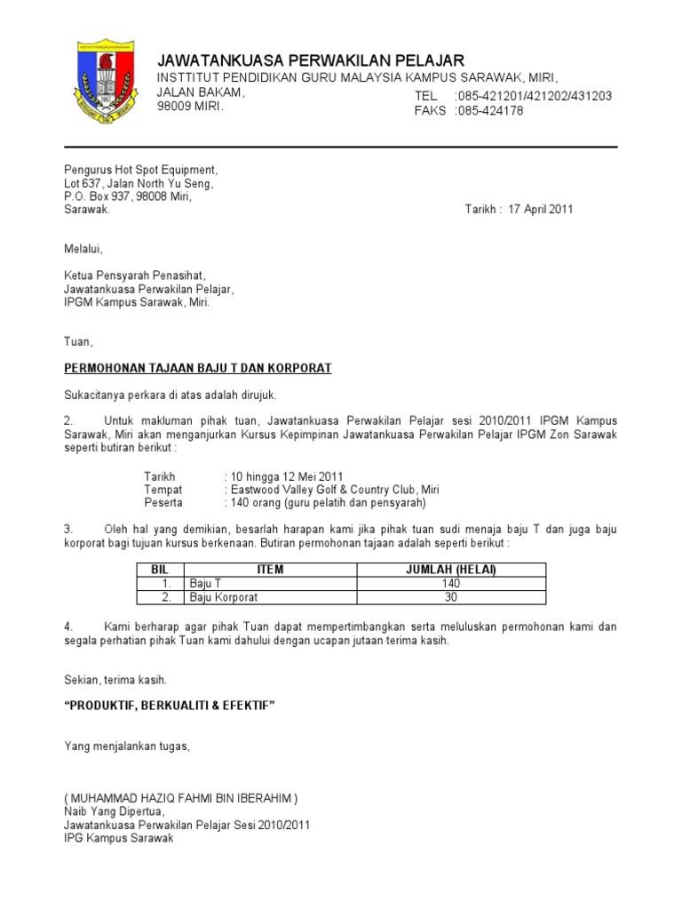 Surat Rasmi Aduan Perkhidmatan Hospital - ARasmi