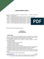 Legea 500/2002 a Finantelor Publice (Actualizata 2011)