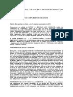 ejemplo de cumplimiento de obligaciones UNIDAD JUDICIAL CIVIL