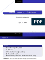 Machine Learning Tutorial (OKKAM project, Trento, 2010) - part I