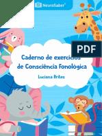 COLEÇÃO NEUROSABER - AUTORA LUCIANA BRITES CADERNO DE ATIVIDADES COCIÊNCIA FONOLÓGICA