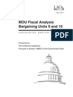 Legislative Analyst's Office review of MOUs for bargaining units 9 and 10