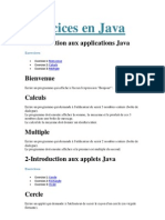 Exercices java
