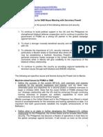 Considerations for Secretary Reyes Meeting With Secretary Powell