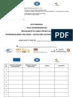 Lista de Prezenta NE-Entrepreneurship