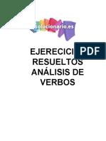 Análisis de verbos ejercicios resueltos