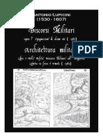 LUPICINI Antonio Discorsi Militari e Architettura Militare