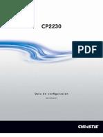 020 100522 01 Christie CP2230 Setup Guide Spanish