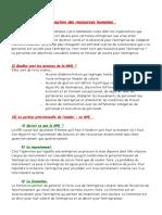 Cours Économie N°14 La Gestion Des Ressources Humaines
