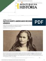 Aventuras Na História · Nativos Norte-Americanos Reconheciam Cinco Gêneros