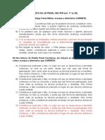 EXERCÍCIOS - DPM - CFSD