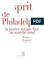 L'Esprit de Philadelphie _ La j - Alain Supiot