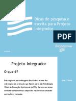 PDF Dicas de Pesquisa e Escrita Projeto Integrador