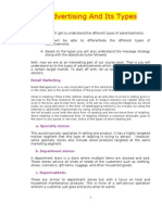 Types of Advt