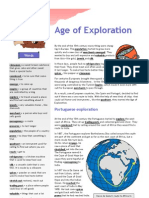 Age of Exploration Text Exercises